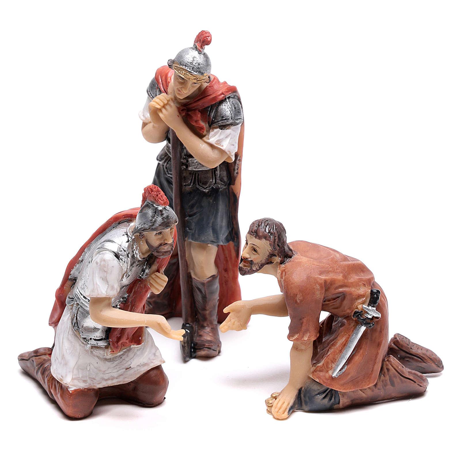 Scène vie de Christ joueurs 9 cm 4