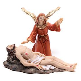 Escena de la vida de Jesús: deposición con ángel 9 cm s1