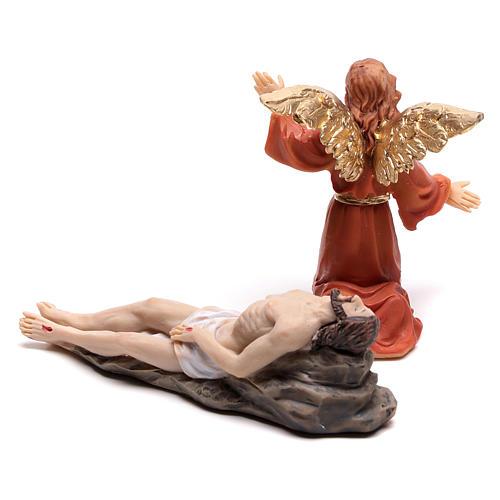 Scène de la vie de Jésus descente de croix avec ange 9 cm 4