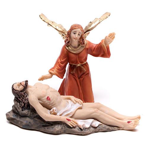 Scena della vita di Gesù: deposizione con angelo 9 cm 1