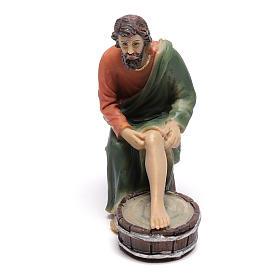 Scène vie de Christ lavement des pieds 9 cm s3