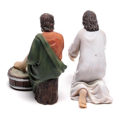 Scène vie de Christ lavement des pieds 9 cm 4