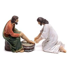 Statue in resina e PVC: Scena vita di Cristo: lavanda dei piedi 9 cm