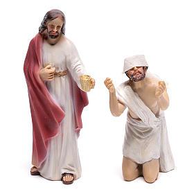 Estatuas escena de la vida de Jesús: recuperación de los ciegos 9 cm s2