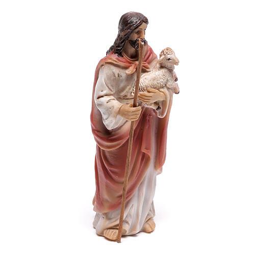 Jesus the Good Shepherd statue, 9 cm in resin 3