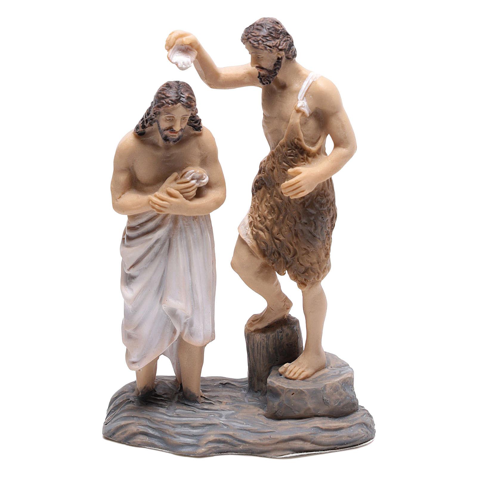 Estatuas escenas bautismo de Jesús con Juan Bautista 9 cm 4