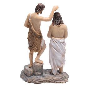 Statuine scena battesimo di Gesù con Giovanni Battista 9 cm s4