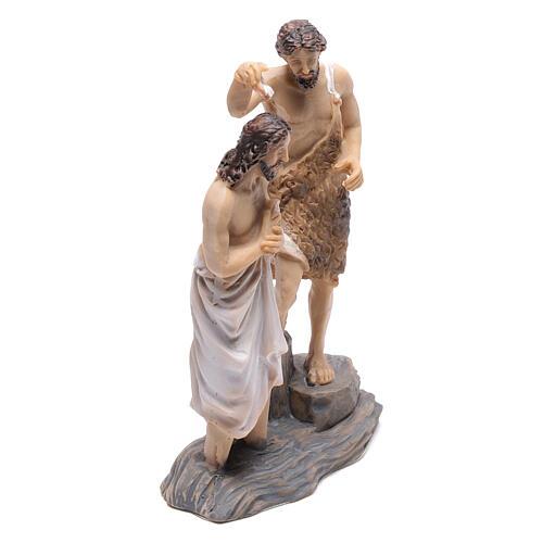 Scene of the baptism of Jesus with John the Baptist, 9 cm 3