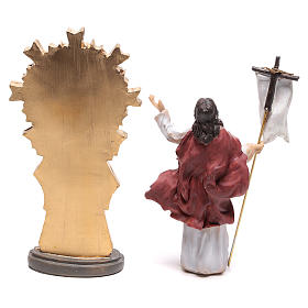 Statuette of Jesus at the moment of the resurrection 9 cm s4