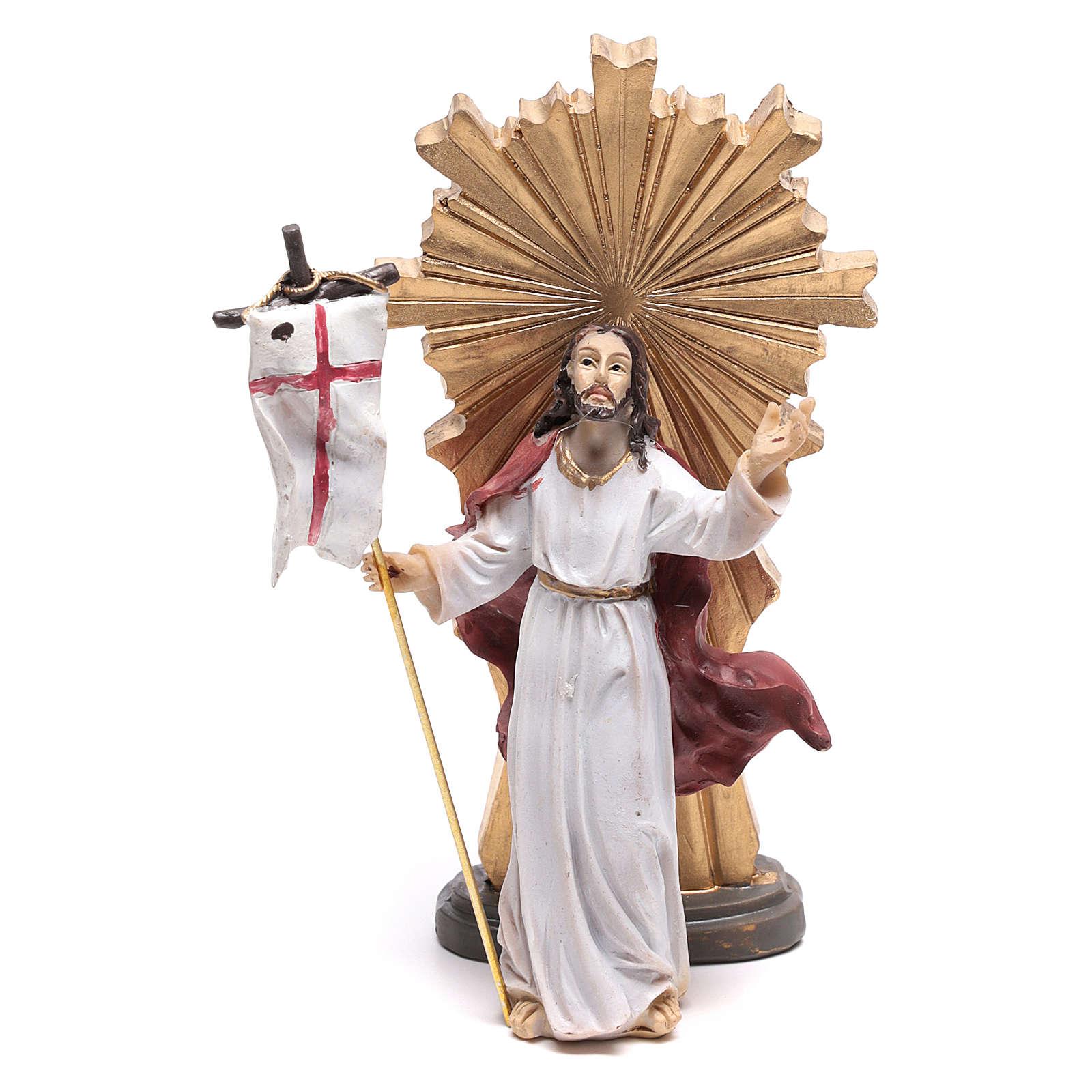 Estatua de Jesús en el momento de la Resurrección 9 cm 4