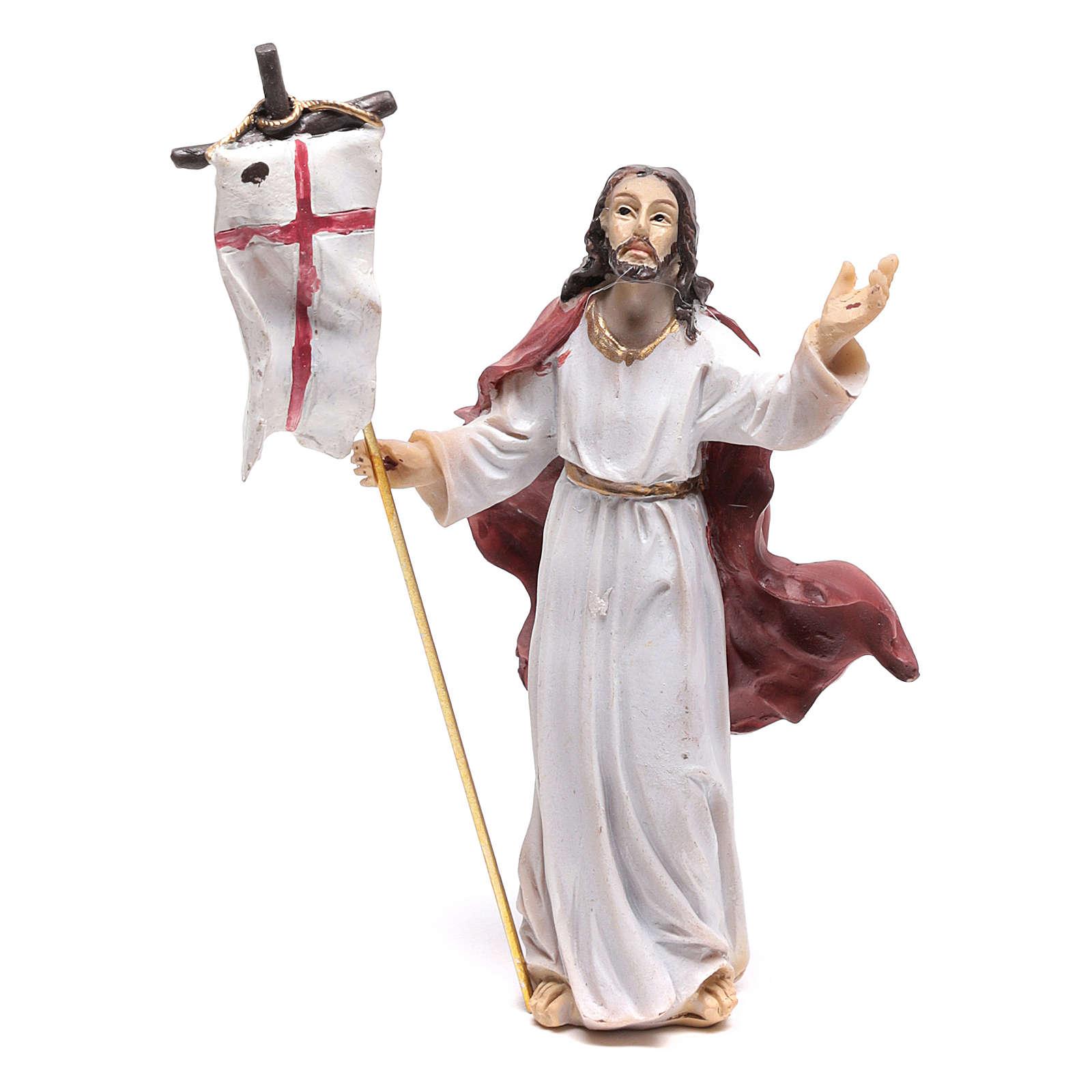 Statuina di Gesù nel momento della Risurrezione 9 cm 4