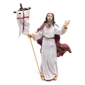 Statuina di Gesù nel momento della Risurrezione 9 cm s2