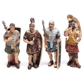 Cuatro estatuas de soldados romanos 9 cm s1