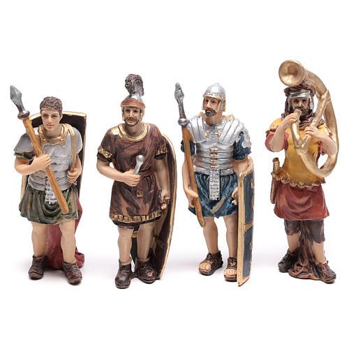 Cuatro estatuas de soldados romanos 9 cm 1