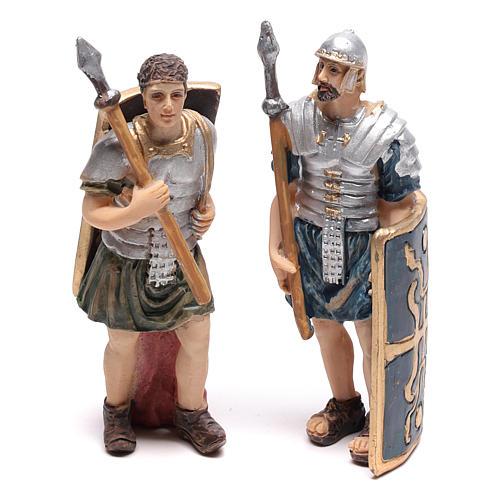 Cuatro estatuas de soldados romanos 9 cm 2