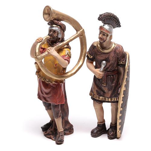 Cuatro estatuas de soldados romanos 9 cm 3