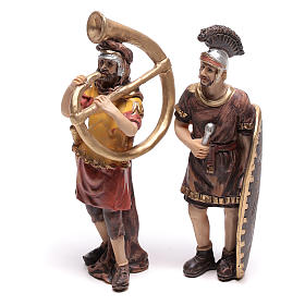 Quatre santons de soldats romains 9 cm s3