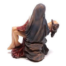 Estatua Jesús depuesto de la cruz en los brazos de María 9 cm s4