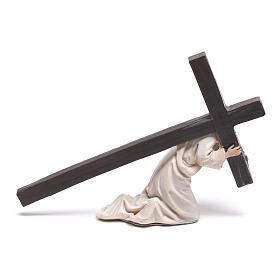 Statuina Gesù cadente con croce 9 cm s3