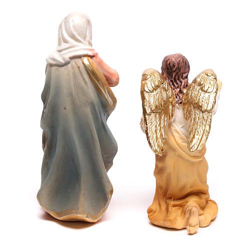 Escena de la Anunciación a María con Arcángel Gabriel 9 cm 3