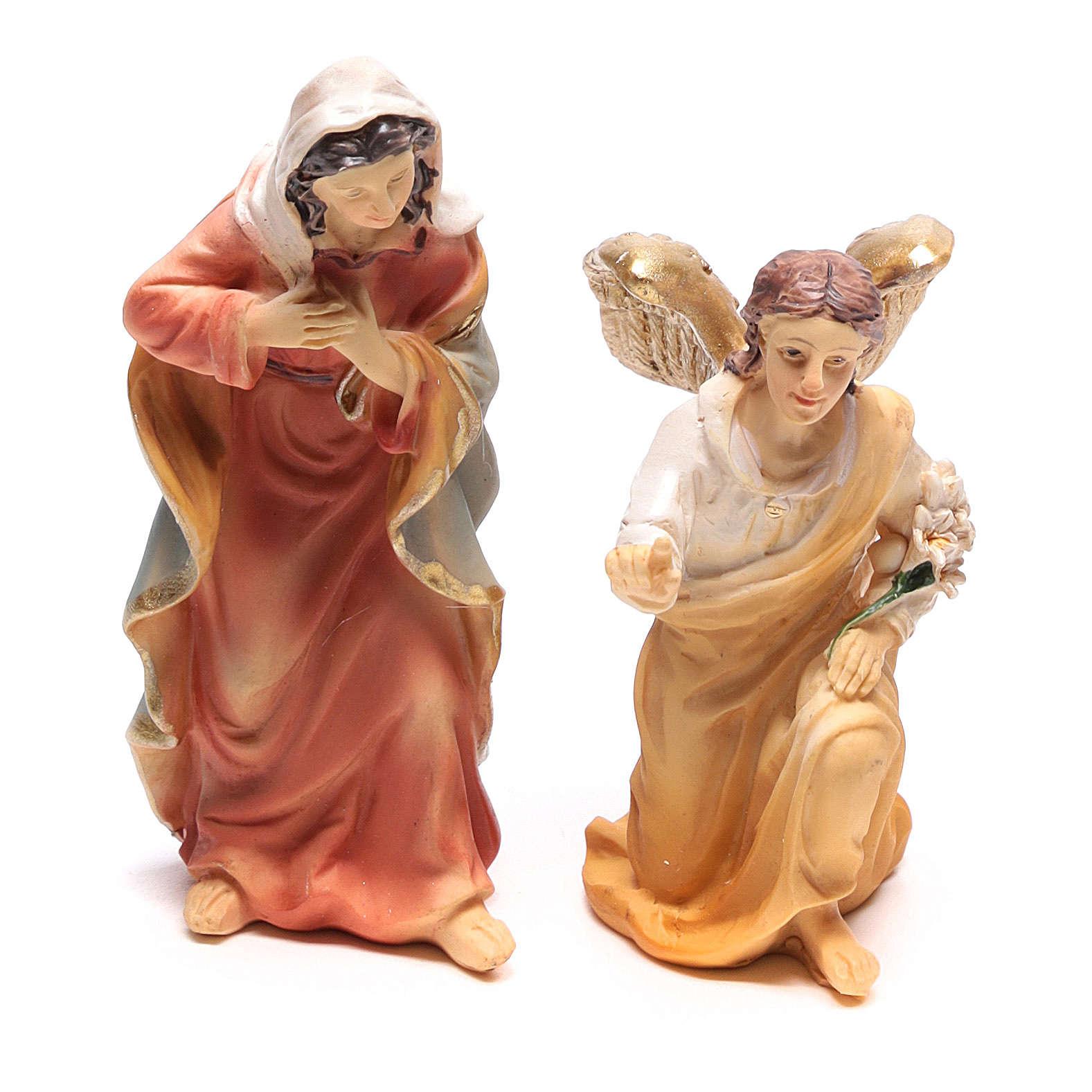Scène de l'Annonciation à Marie avec Archange Gabriel 9 cm 4