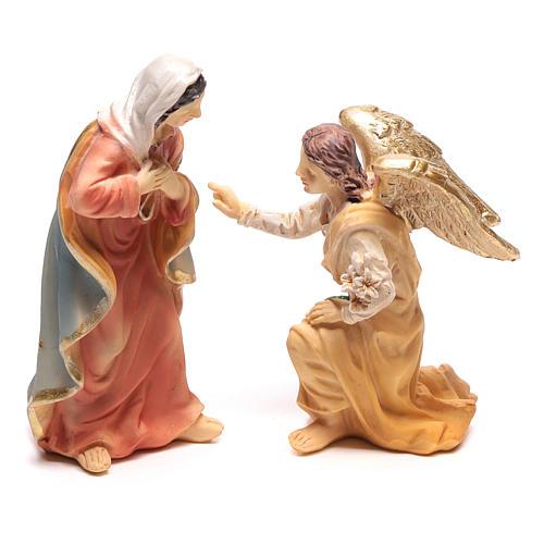 Scène de l'Annonciation à Marie avec Archange Gabriel 9 cm 1