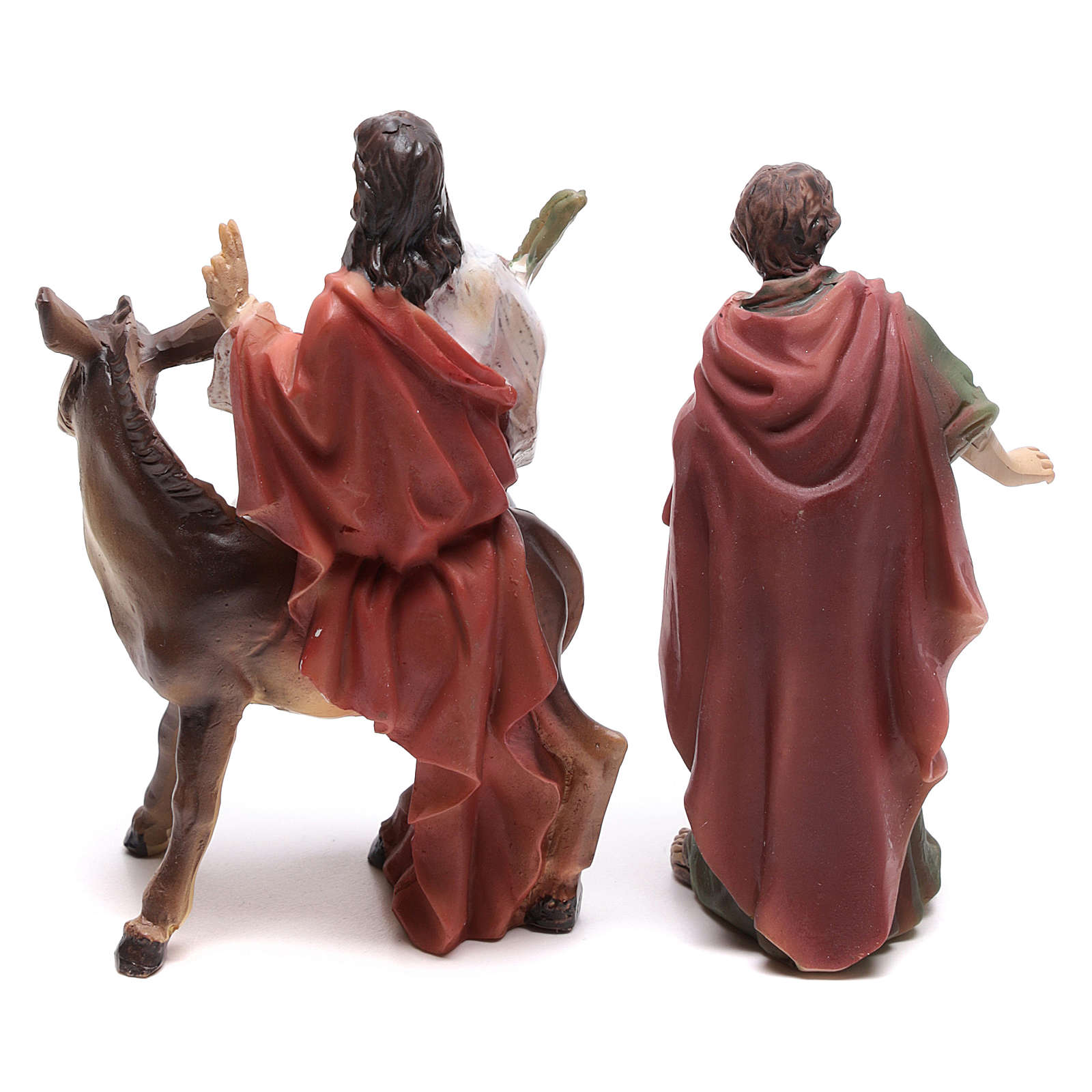 Escena de la entrada en Jerusalén de Jesús 9 cm 4