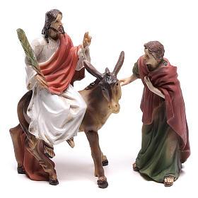 Escena de la entrada en Jerusalén de Jesús 9 cm s1