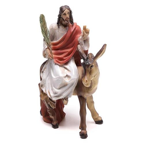 Escena de la entrada en Jerusalén de Jesús 9 cm 2