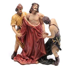 Scène Jésus est dépouillé de ses vêtements 9 cm s1