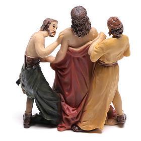 Scène Jésus est dépouillé de ses vêtements 9 cm s4
