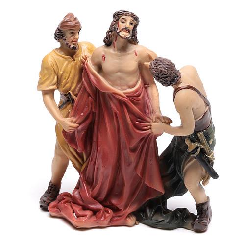 Scène Jésus est dépouillé de ses vêtements 9 cm 1