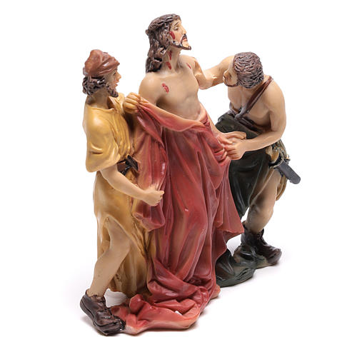 Scène Jésus est dépouillé de ses vêtements 9 cm 3