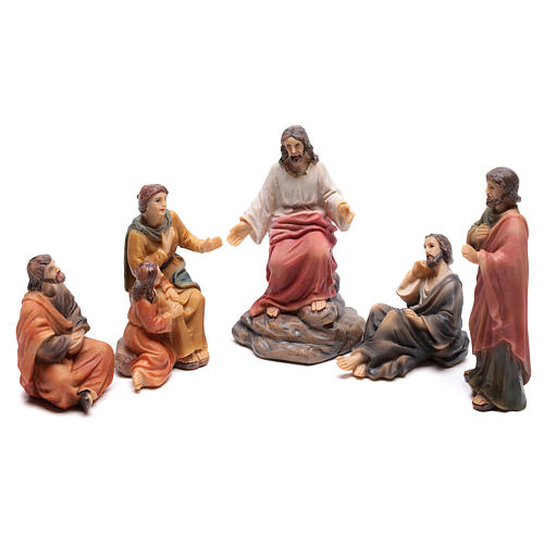 Escena del sermón de Jesús en el monte 9 cm 1