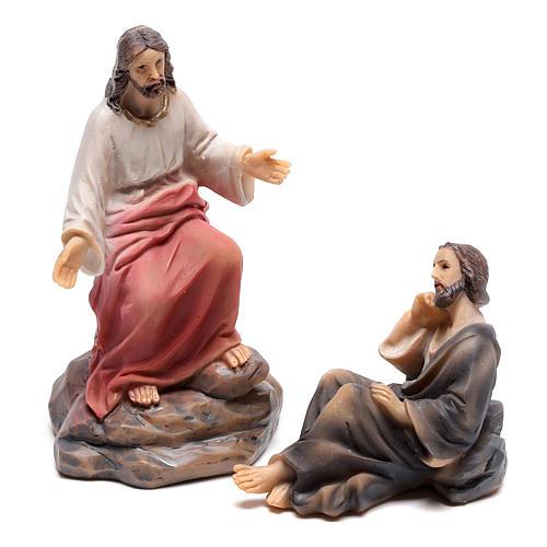 Escena del sermón de Jesús en el monte 9 cm 2