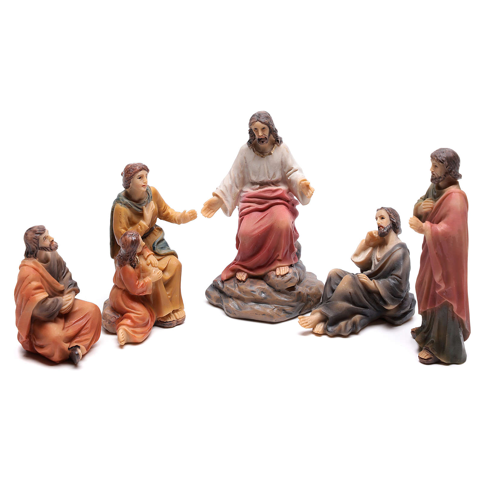 Scena del sermone di Gesù sul monte 9 cm 4