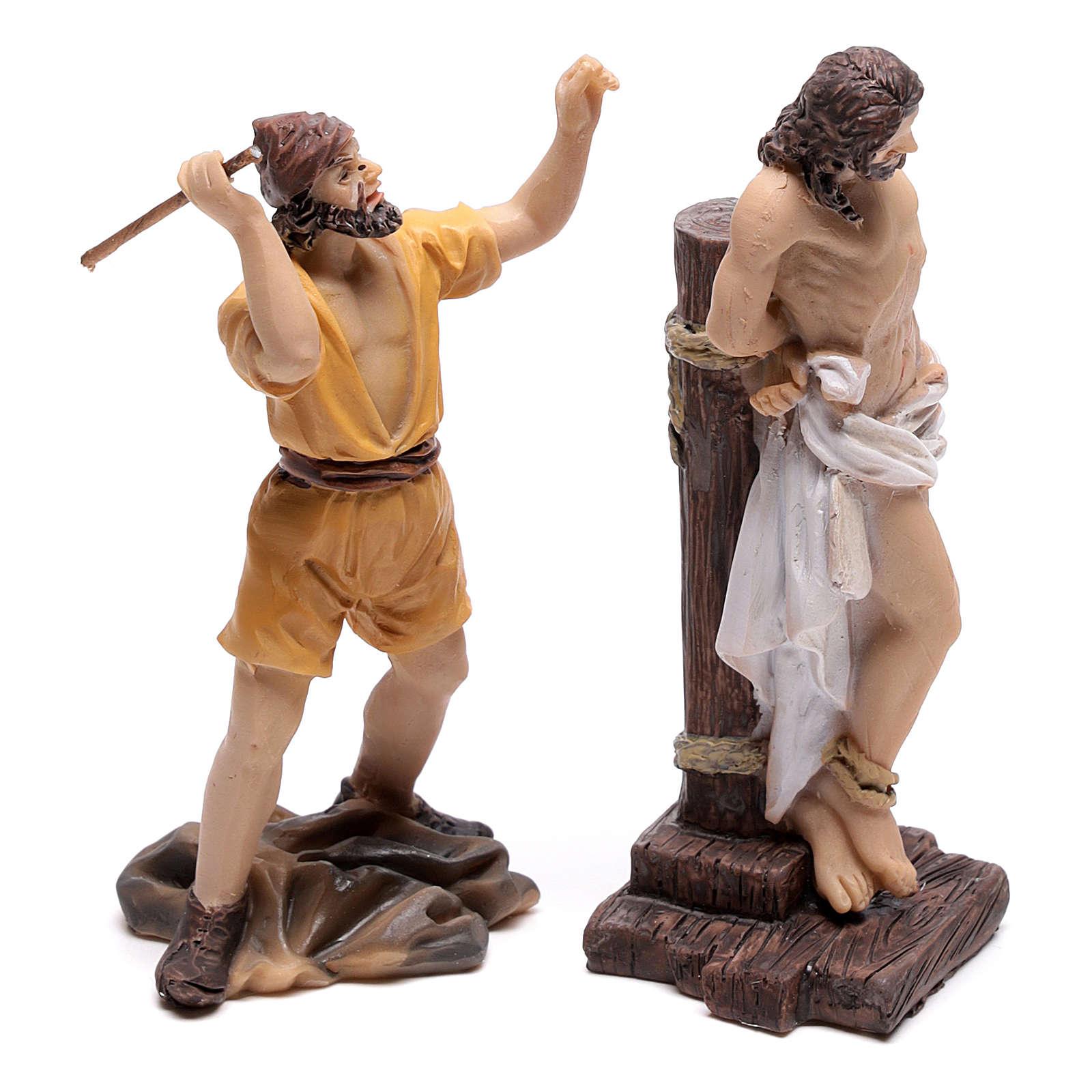 Escena pasión de Jesús flagelación de Cristo 9 cm 4