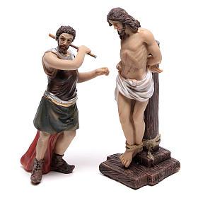 Escena pasión de Jesús flagelación de Cristo 9 cm s2