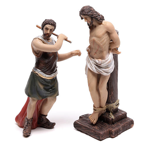 Escena pasión de Jesús flagelación de Cristo 9 cm 2