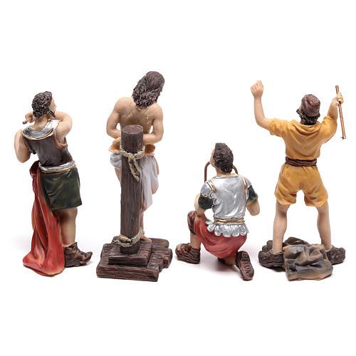 Escena pasión de Jesús flagelación de Cristo 9 cm 5