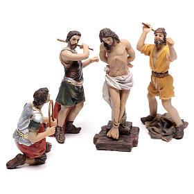 Statues en résine et PVC: Scène passion de Jésus flagellation de Christ 9 cm