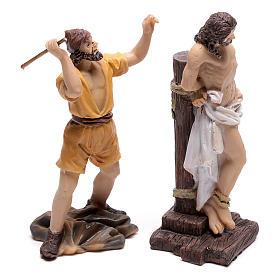 Scena passione di Gesù flagellazione di Cristo 9 cm s3