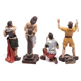Scena passione di Gesù flagellazione di Cristo 9 cm s5