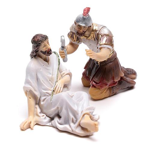 Scène passion de Christ couronnement d'épines 9 cm 2