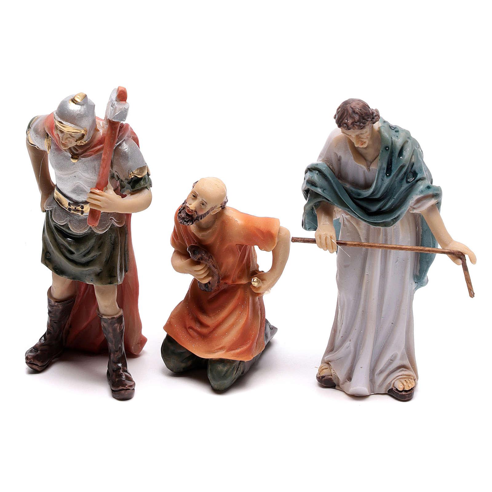 Scena passione di Cristo coronazione di spine 9 cm 4