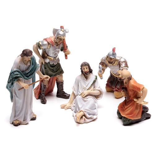 Scena passione di Cristo coronazione di spine 9 cm 1