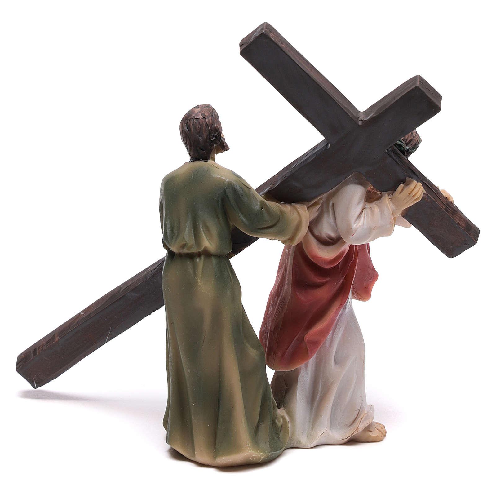 Scena passione di Cristo la salita al Calvario 9 cm 4