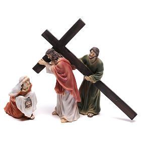 Scena passione di Cristo la salita al Calvario 9 cm s1