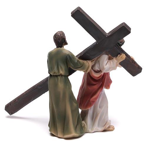 Scena passione di Cristo la salita al Calvario 9 cm 5