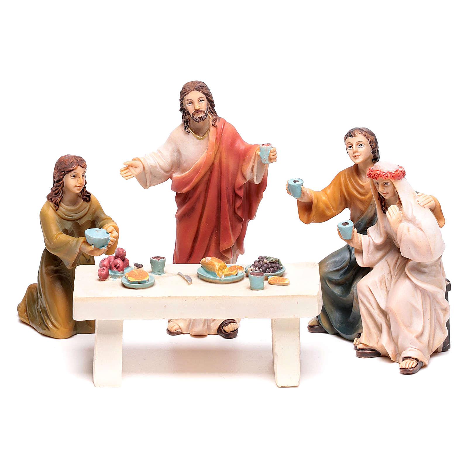 Escena vida de Jesús la boda de Caná 9 cm 4